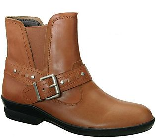 David Tate Leather Ankle Boots - Art