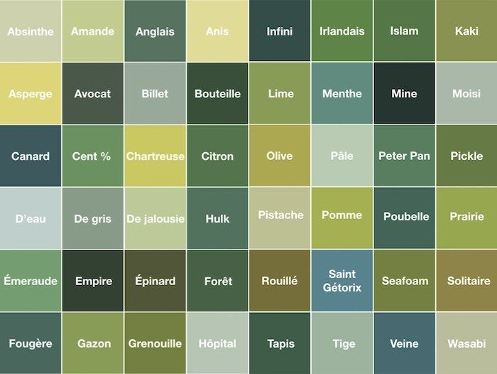 Nuance de vert - Blog déco - ClemAroundTheCorner   Nuances de vert, Couleurs de peinture verte ...