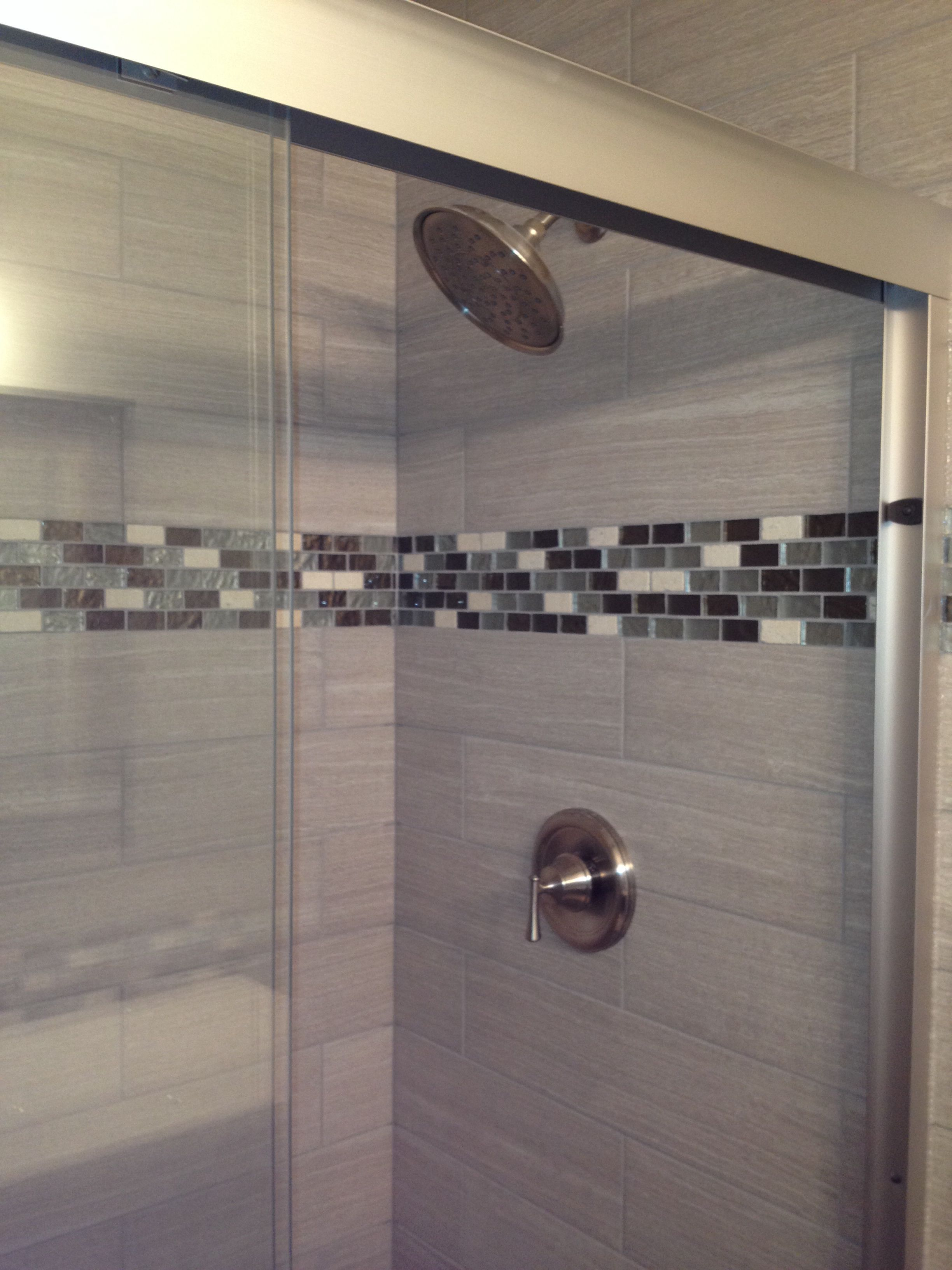 Leonia Silver 6x24 Tile For Shower Walls Gl Accent