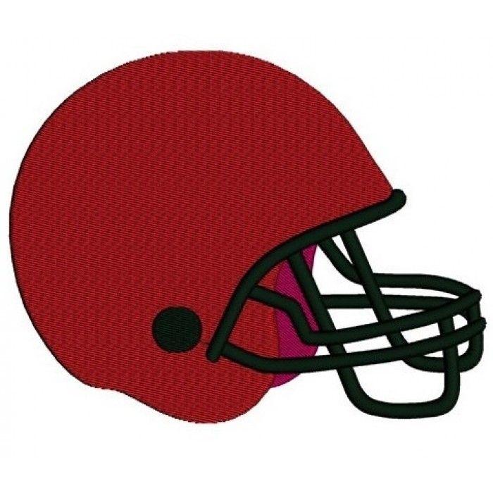 Football Helmet Sport Machine Embroidery Digitized Design Filled