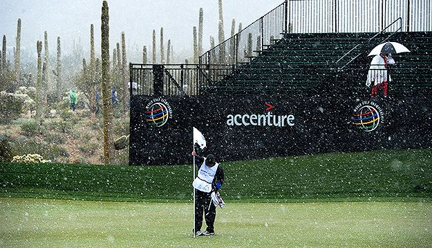 This does not bode well for an early spring. We should never see snow on a PGA course!