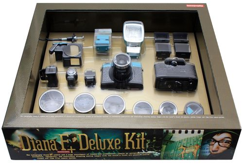 Diana Deluxe Kit. This is awesome. A whole set up for a diana film camera. only $249. I wish I was ready to go all the way with film, but I can't take on another hobby right now.