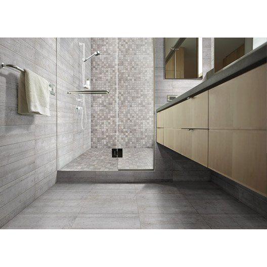 Carrelage Sol Et Mur Gris Clair Effet Beton Industry L 30 X L 60