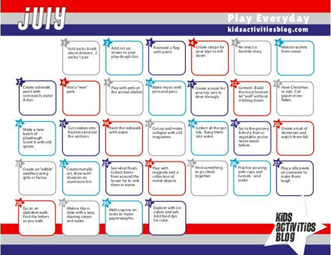 Calendar Kid activities, Activities and Plays - activity calendar