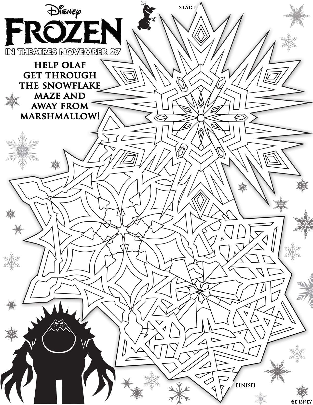 Disneys Frozen Printables Coloring Pages And Storybook