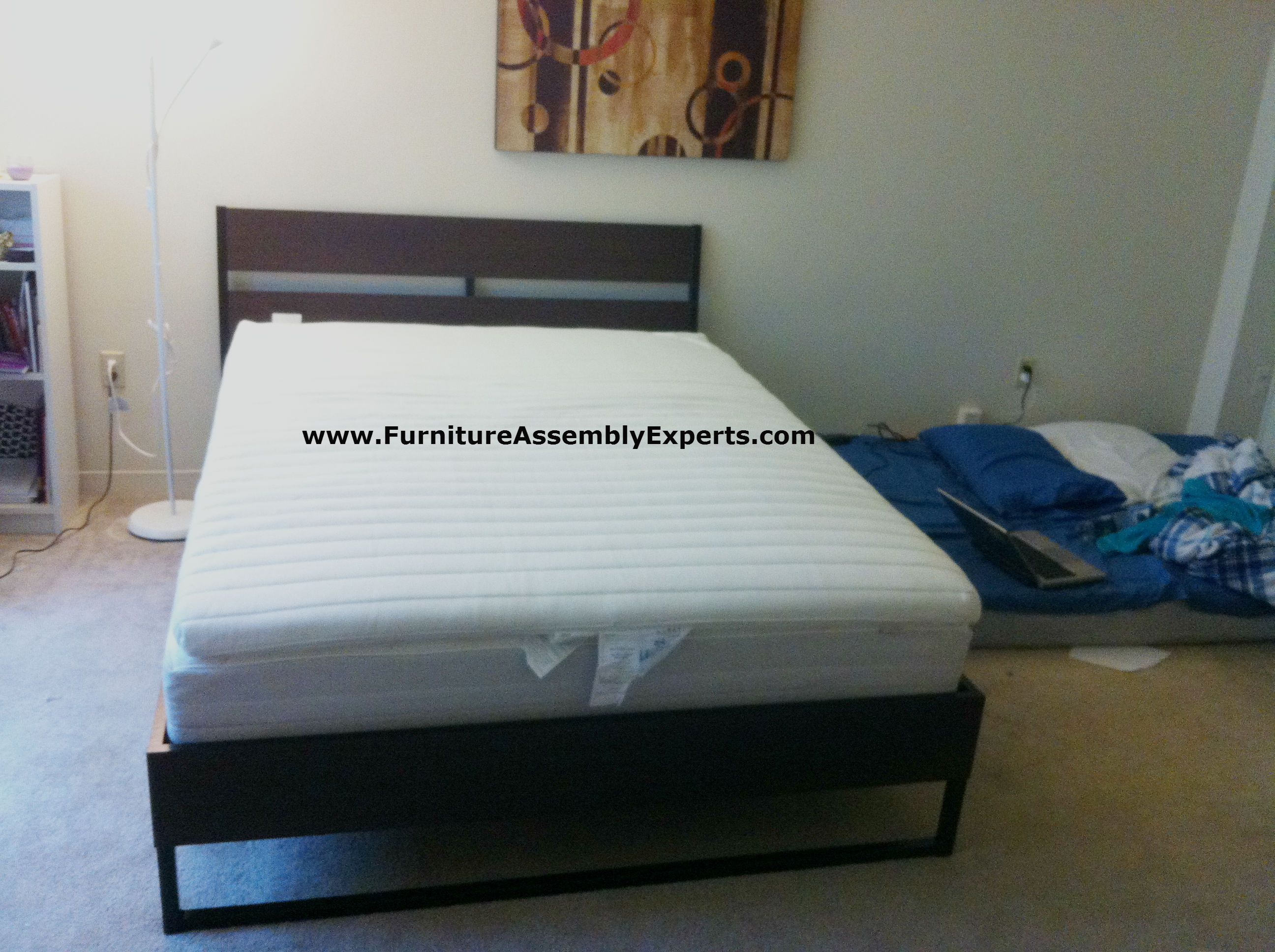 ikea TRYSIL bed frame assembled at the marylander aparment in John ...