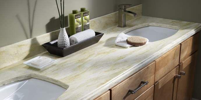 Corian® Saffron   Bathroom Countertops · Corian CountertopsSolid Surface ...