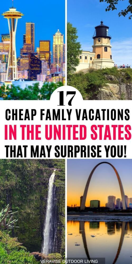 These Cheap Family Vacation Destinations in the US May Surprise You! #vacationdestinations
