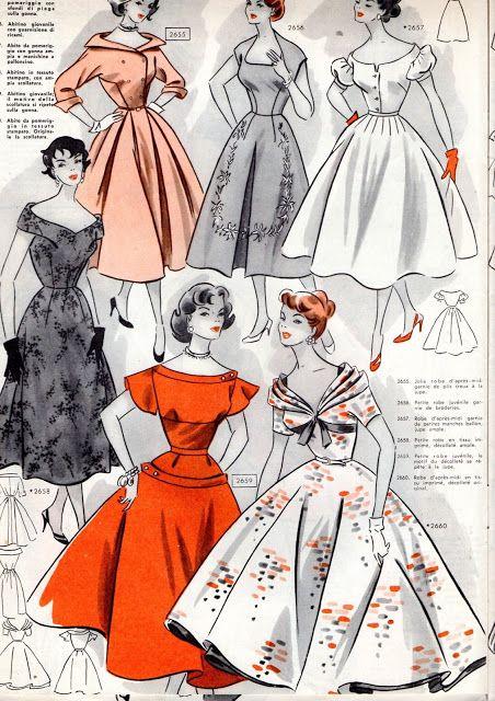 Modelli di abiti vintage