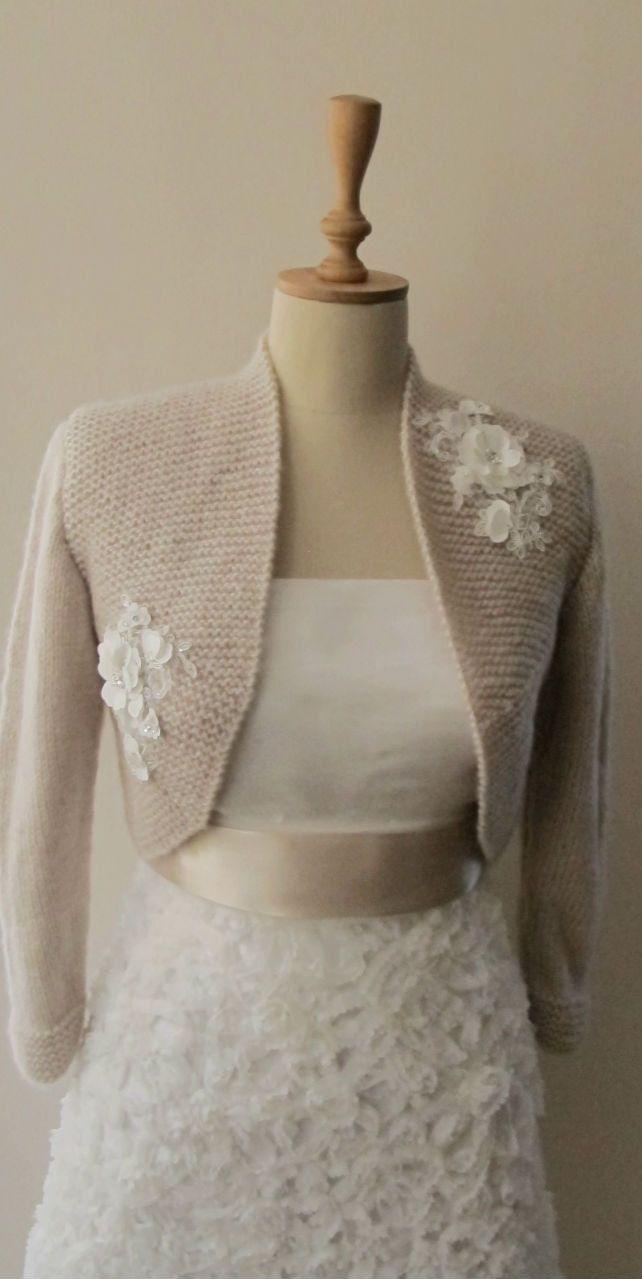 Bridal Bolero Wedding Shrug Wrap Capelet Flower lace shawl jacket