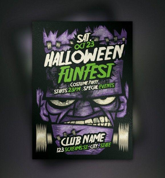 franky halloween flyer template Halloween Pinterest Flyer template - halloween template