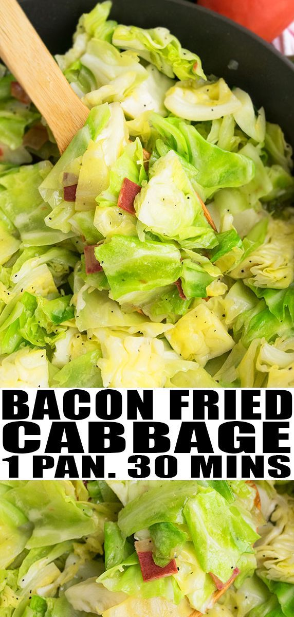 Fried Cabbage with Bacon (One Pot)