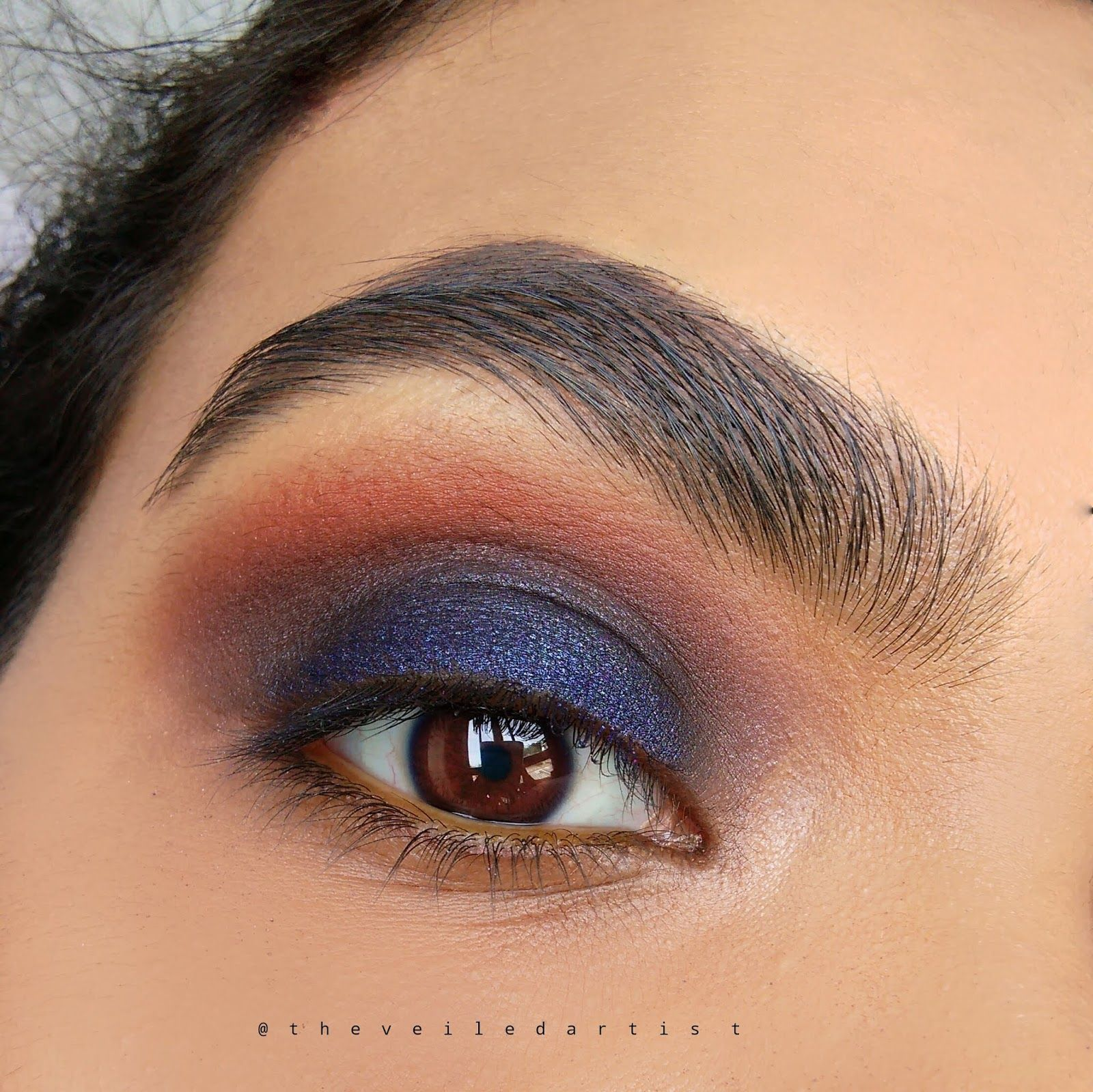 Navy Blue and Bronze Smokey Eye Tutorial Perfect Party
