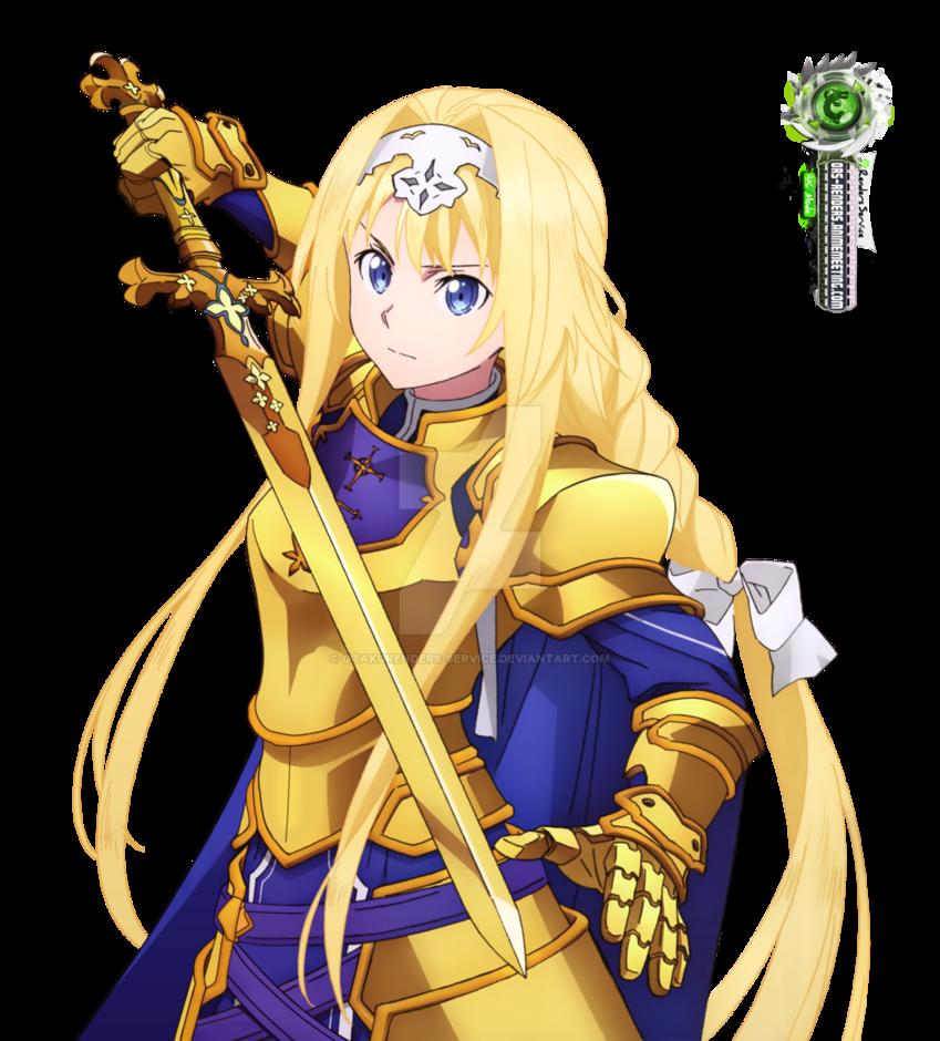 Sword Art Online Alice Kakoii Swordmaster Png By Otakurenders Service Sword Art Sword Art Online Asuna Sword Art Online