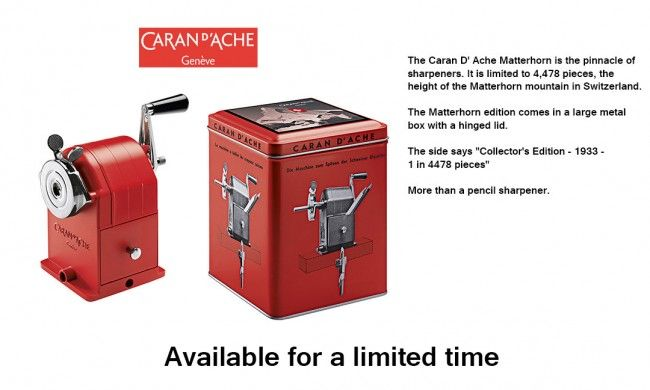 Sharpening Machine Caran D/'ache Desktop Pencil Sharpener Red