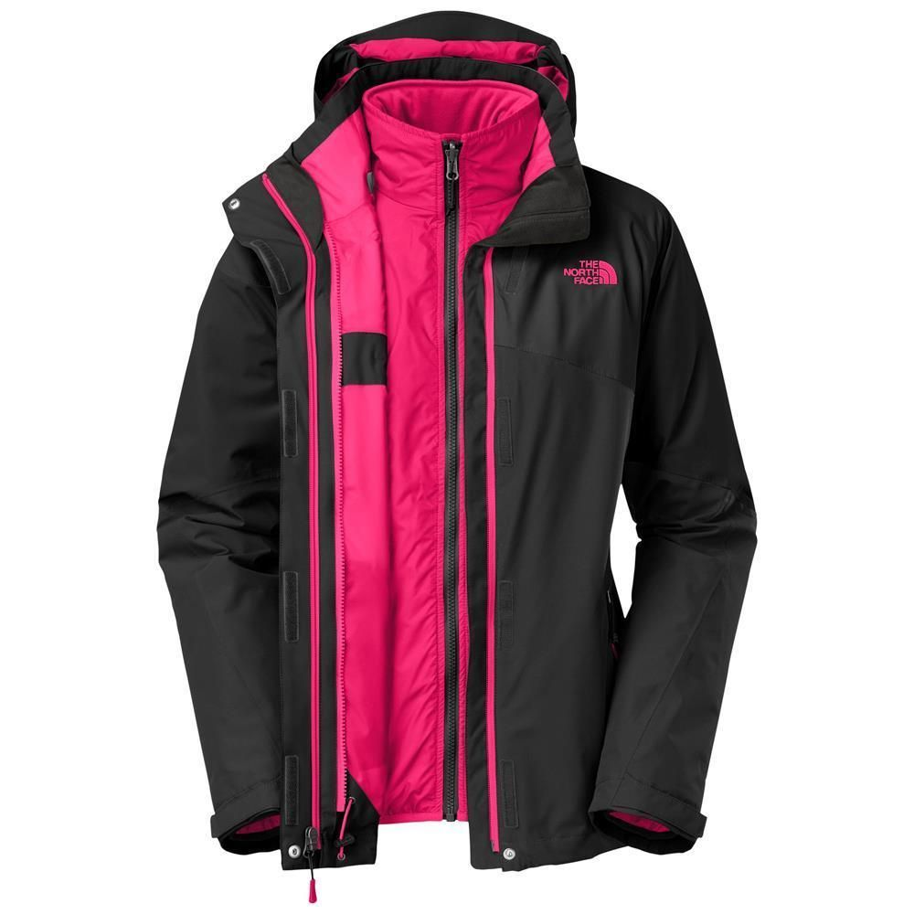 245f9985ded6 THE NORTH FACE WOMENS CINNABAR TRICLIMATE 3 IN 1 JACKET TNF BLACK PINK SZ L  NEW  TheNorthFace  BasicCoat