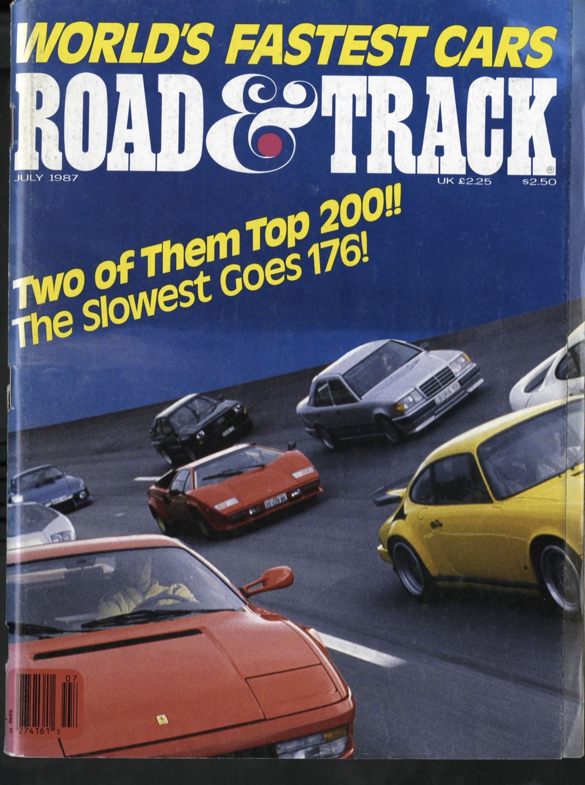 World S Fastest Cars July 1987 Fast Cars Amazing Cars Track