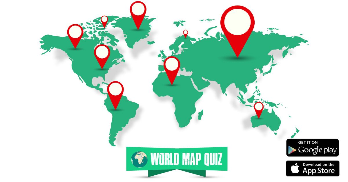Explore the global world map with countries through a fun game quiz on