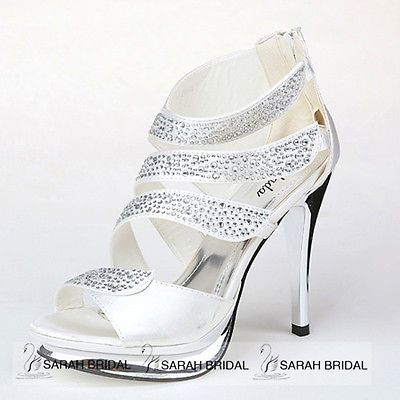 Womens Fashion Crystal Platform Stiletto High Heel Sandals Wedding Party  Shoes - BUY NOW ONLY 32.99 b8984daf443a