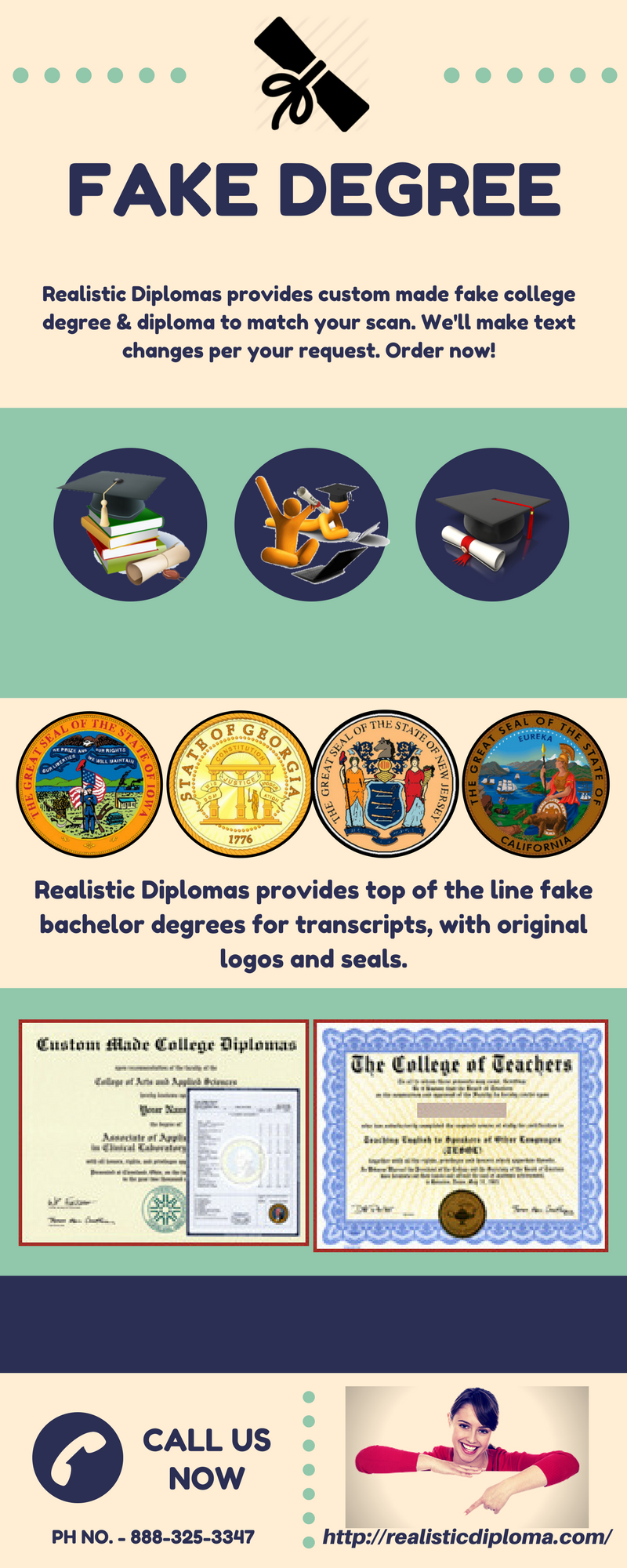realistic diplomas provides custom made fake college
