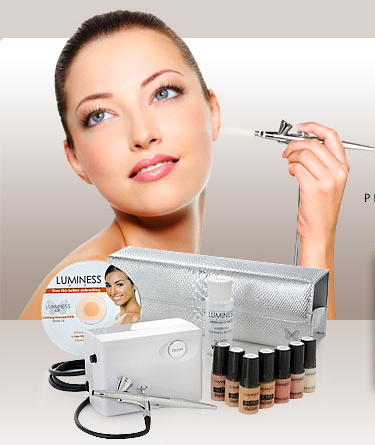 air brush make up....GENIUS! Luminess air makeup