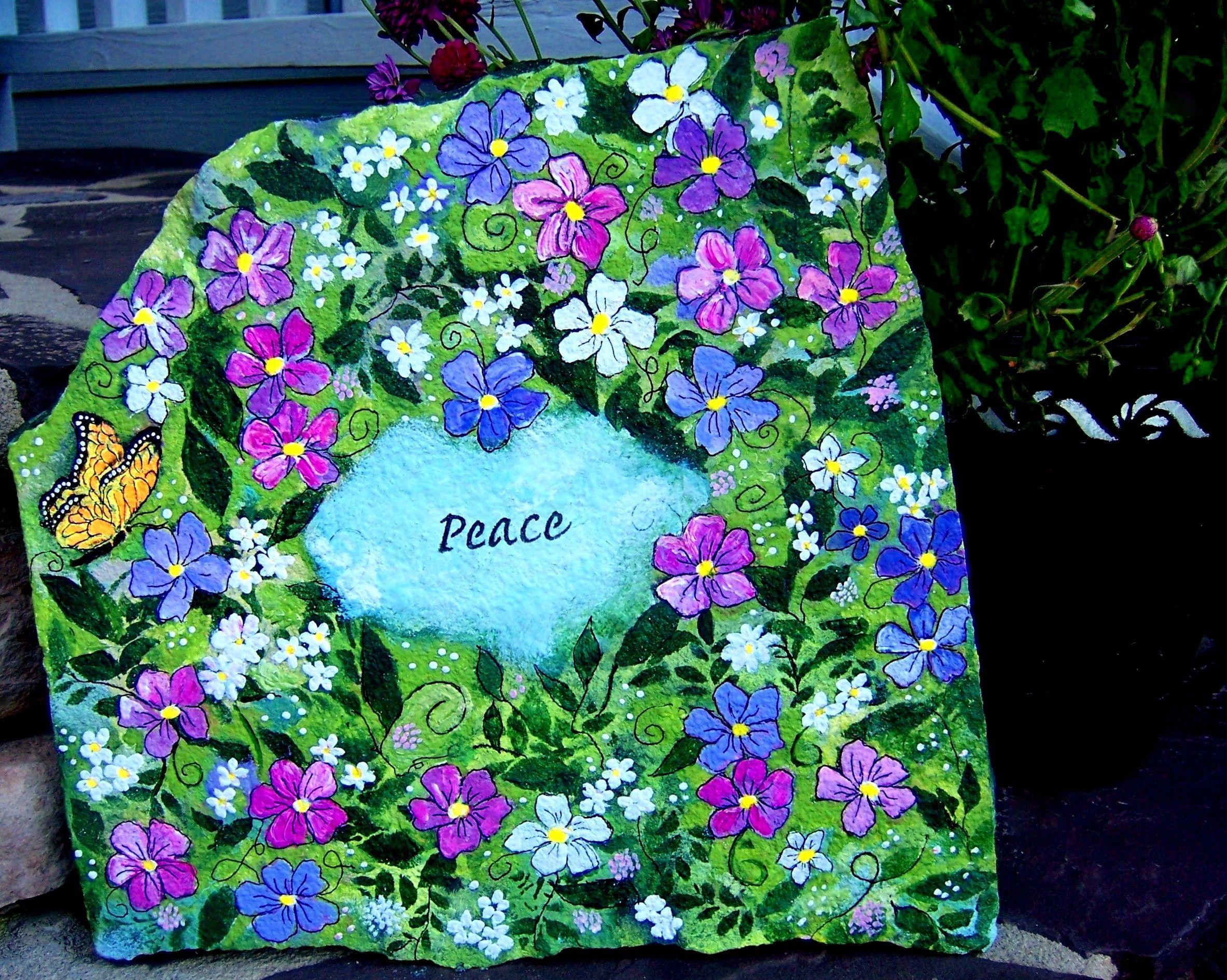 Hand-Painting Garden Rocks: Flowers and Fairies | Flower ...