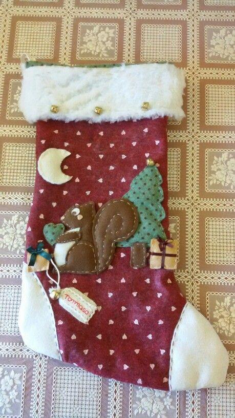 Calza della befana handmade