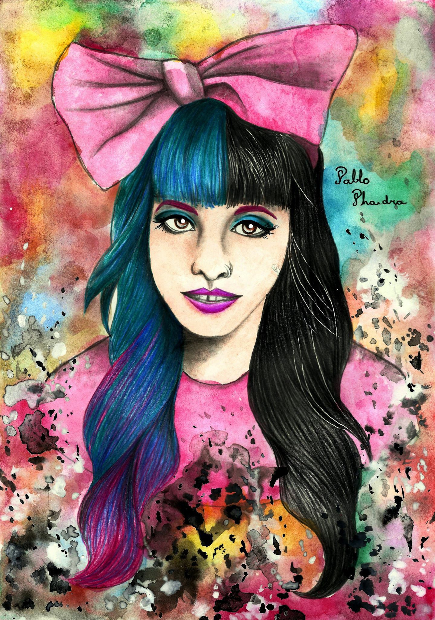 Melanie Martinez artwork by Pablo Phaedra.. Check out his facebook page Phaedrawing