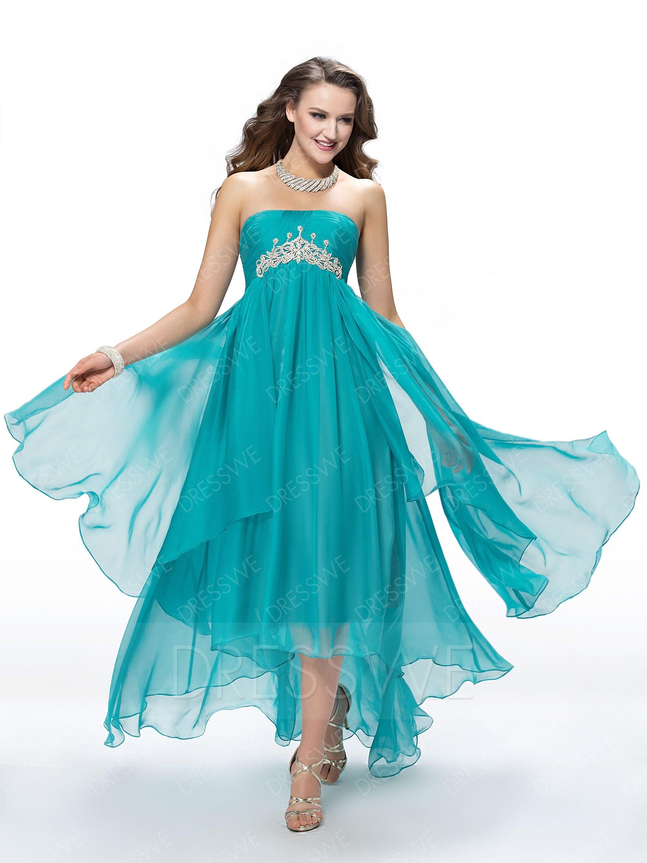 $124.69 Dresswe.com SUPPLIES Fashion A-Line Asymmetry Empire Sweep ...