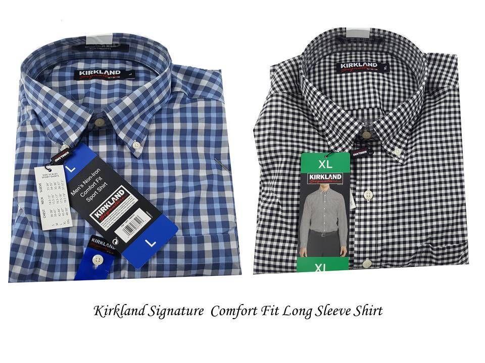 9bb93ba4b7d52 Kirkland Signature Mens COMFORT FIT B. Down Collar Dress Shirt Non-Iron  Sport  KirklandSignature  ComfortFit