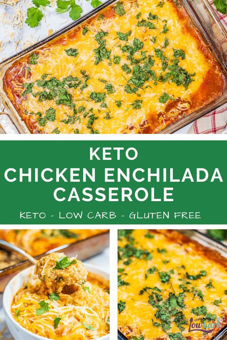 Keto Chicken Enchilada Casserole Recipe In 2020 Easy Casserole