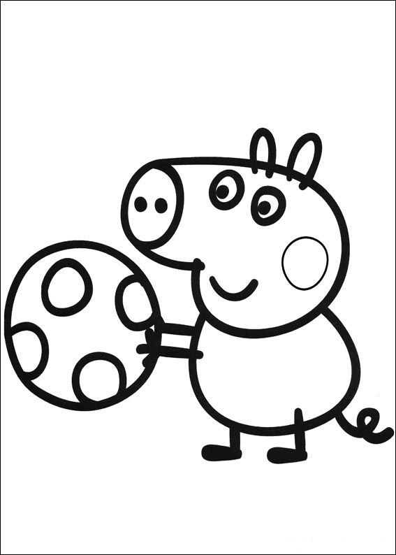 Peppa Pig Coloring Pages For Kids Printable Online Coloring 1