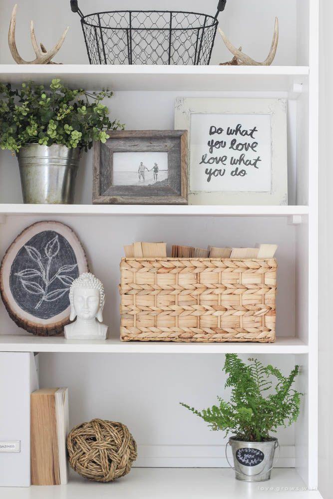 Office Makeover Reveal Decorating Bookshelves Home Decor