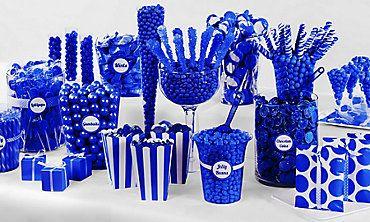 Baby Shower Candy Buffet Blue Candy Buffet Pink Candy Buffet Blue Candy Bars