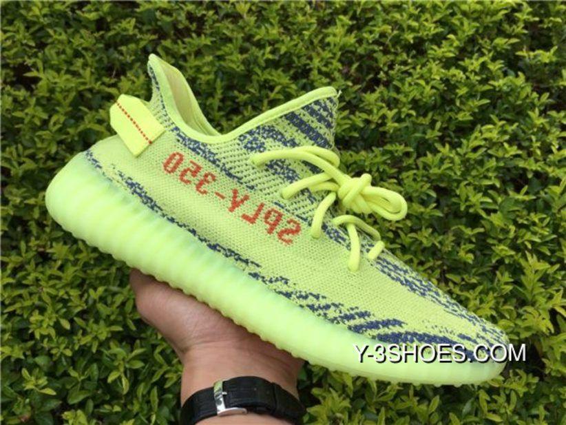 "2017 adidas Yeezy Boost 350 V2 ""Yebra"" Semi Frozen Yellow"