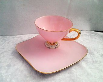 Vintage Pink and Gold Tennis Set by Westminster in Australia - 1950's