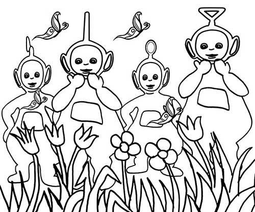 Teletubbies Coloring Book Kids Fun Com: Pin By Charissa Van Der Ree On Teletubbies Work