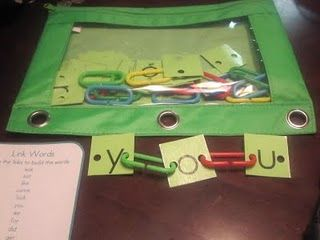 sight word practice- love the storage idea here