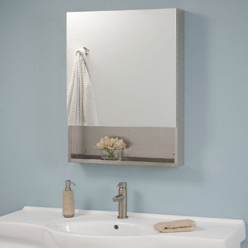 Dawson Stainless Steel Medicine Cabinet With Mirror Brushed