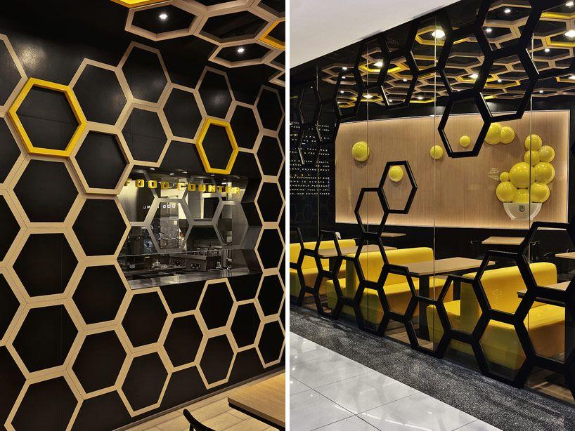 A S Design as design create playful honeycomb restaurant rice home rice