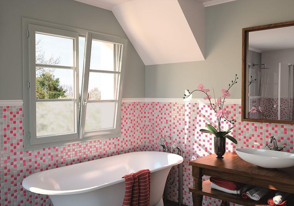 Fenêtre en PVC collection Prim\u0027elis Équipée d\u0027un vitrage spécifique - plafond pvc pour salle de bain