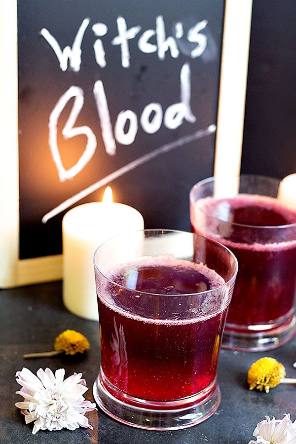 As scary as the name might be, Witch's Blood is actually a fun and easy drink made with only 3 ingredients!