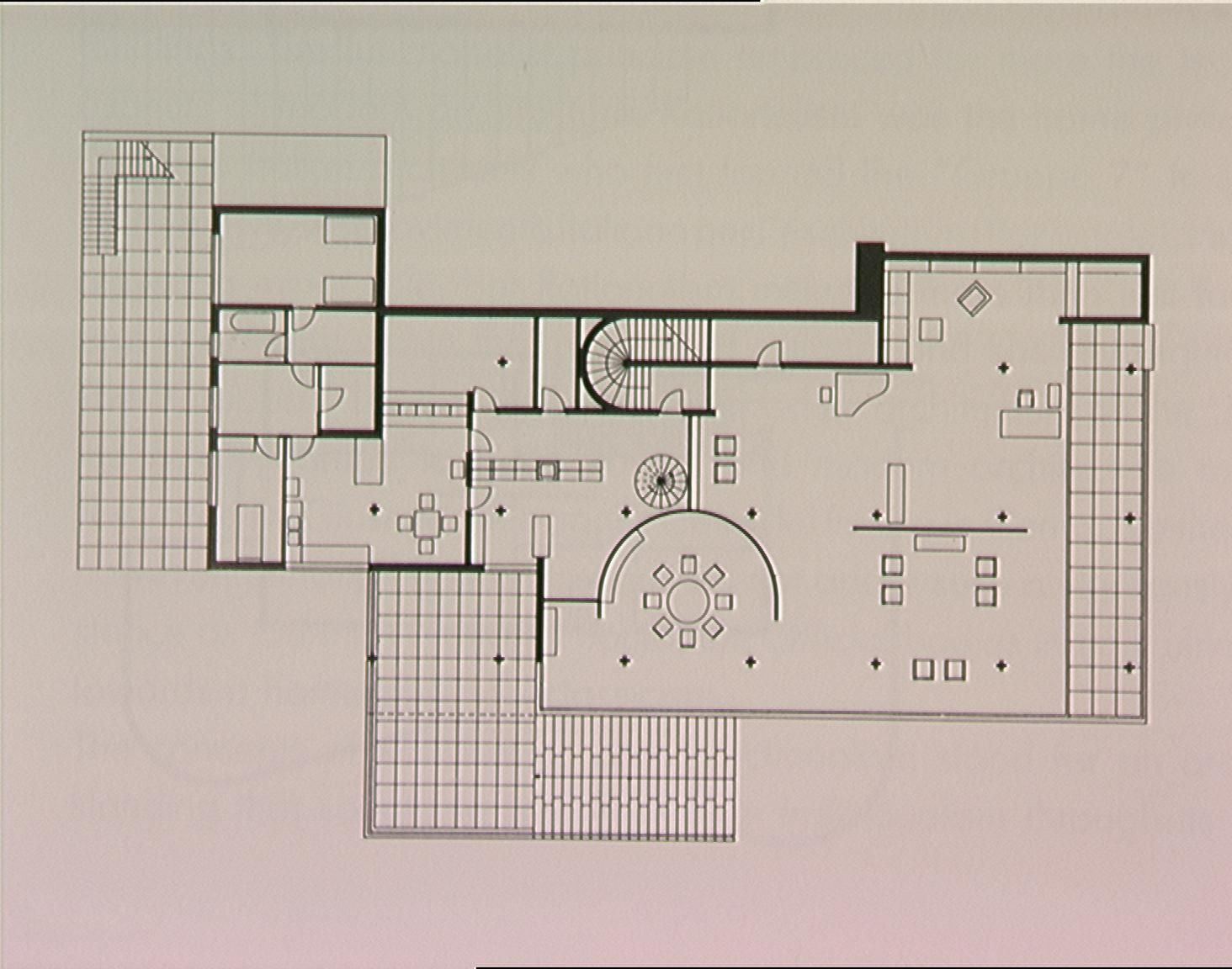 Plan Drawing Of The Tugendhat House Mies Van Der Rohe 1930 Brno