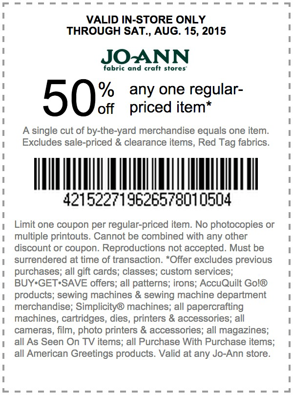 Jo Ann Fabric Coupons Find A Jo Ann Coupon Jo Ann Store Coupons Coupons Joann