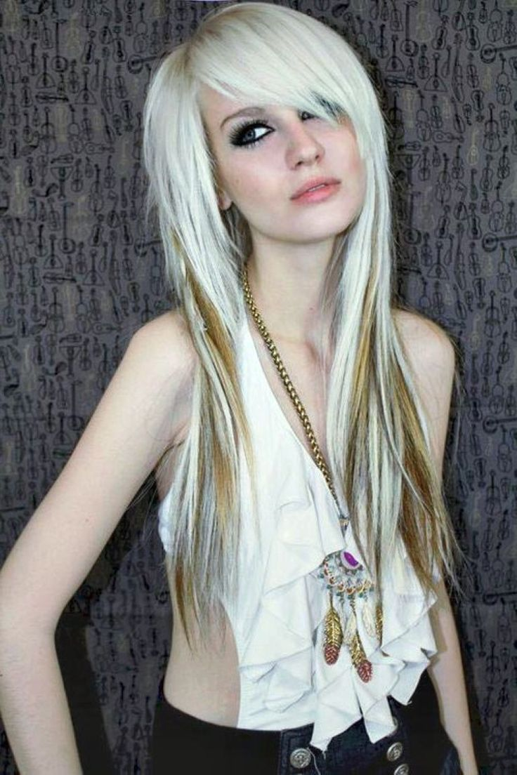 Emo Hair Styles With Image Emo Girls Hairstyle With Long Blond Emo