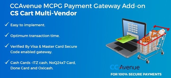 Payment Gateway Integration is the final step toward accepting payments online on your website. This step is crucial and could be tricky as it's the part of development team who need to work out on different API calls. http://cmsmart.net/cs-cart-extensions/cs-cart-multi-vendor-ccavenue-mcpg-payment-gateway-add-on