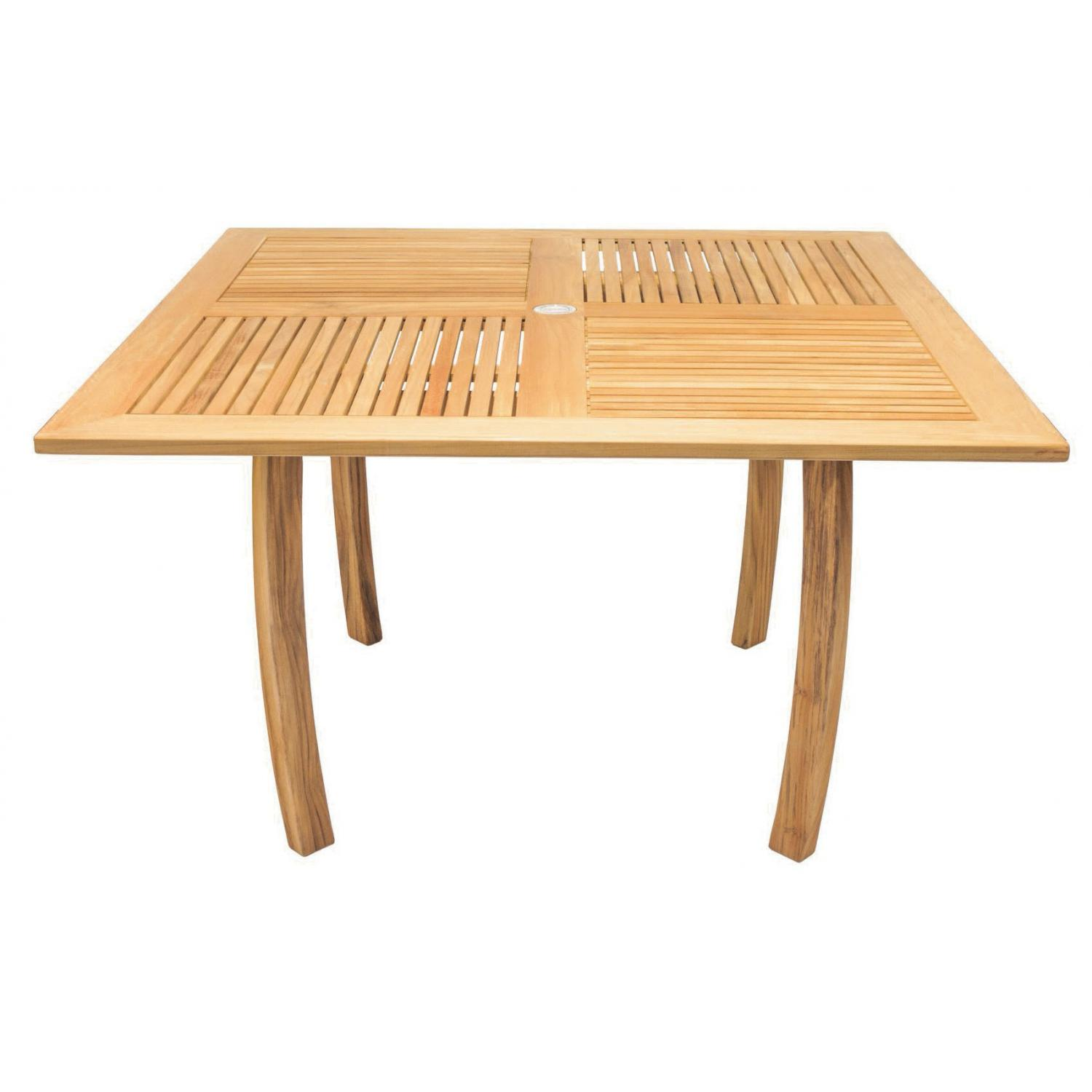 Dolphin 50 Inch Square Teak Patio Dining Table By Royal Teak