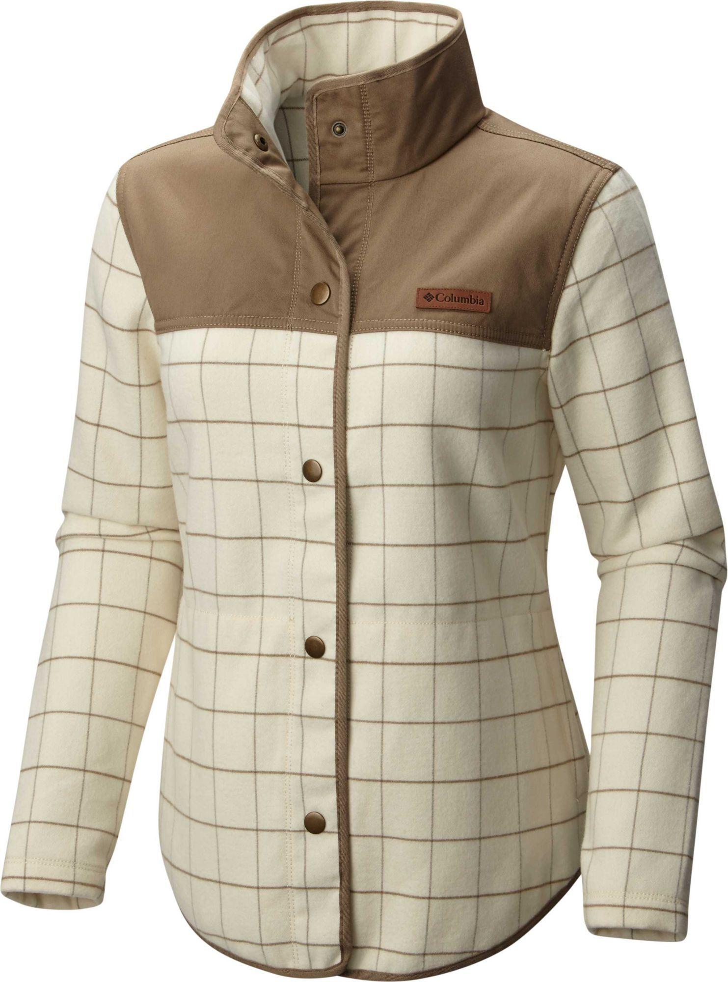 Columbia womenus alpine fleece jacket size xl chalk columbia