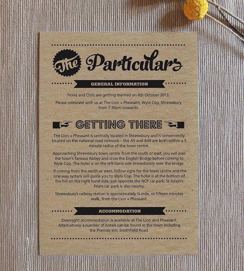 Retro Vintage Kraft Wedding Invitation   Pinterest   Retro vintage ...
