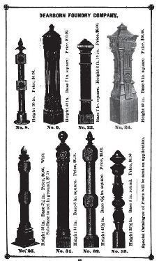 Matching Set Of Original 19th Century Antique American Ornamental Cast Iron Exterior Black Enameled Residential Newel Posts Newel Posts Cast Iron Wrought Iron Stairs